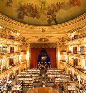 Vista desde el nivel superior de la librería
