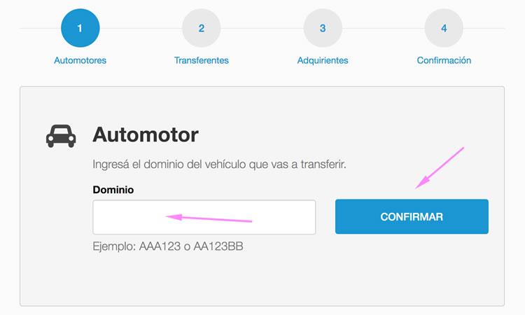 Completar el dominio automotor