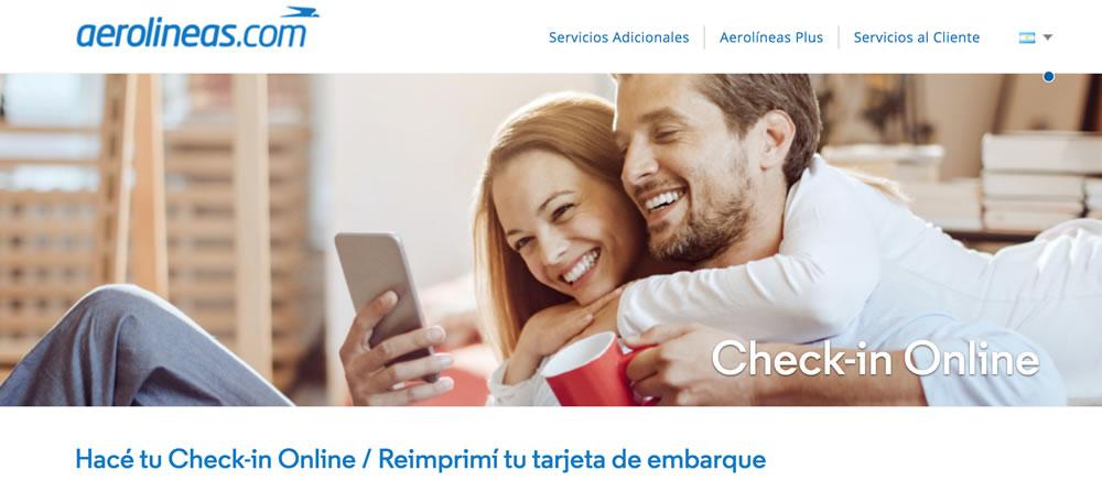 Hacer checkin online en Aerolíneas