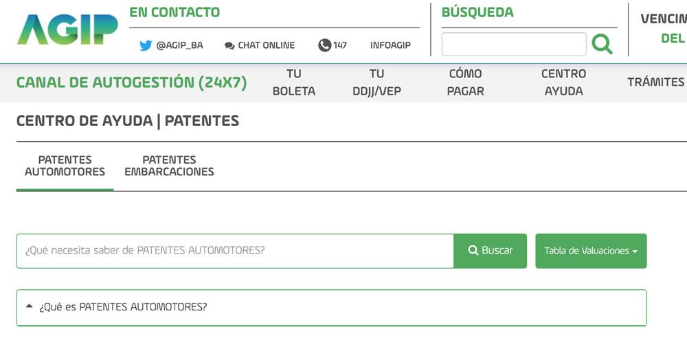 Sitio web de AGIP