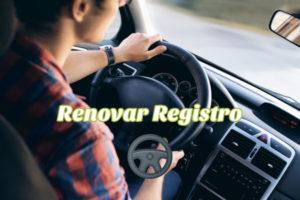 Renovar registro de conducir