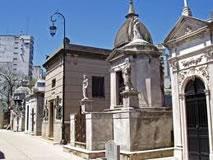 El cementerio y sus calles internas